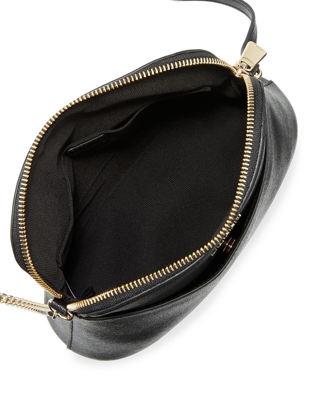 Lyst - Furla Miky Xl Saffiano Leather Crossbody Pouch Bag in Black 2bac46df190ca