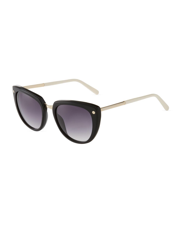 39ef9b1f041 Balmain - Black Oversized Cat-eye Acetate Sunglasses - Lyst. View fullscreen