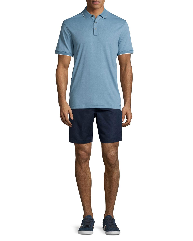 Lyst Michael Kors Short Sleeve Jersey Knit Polo Shirt In