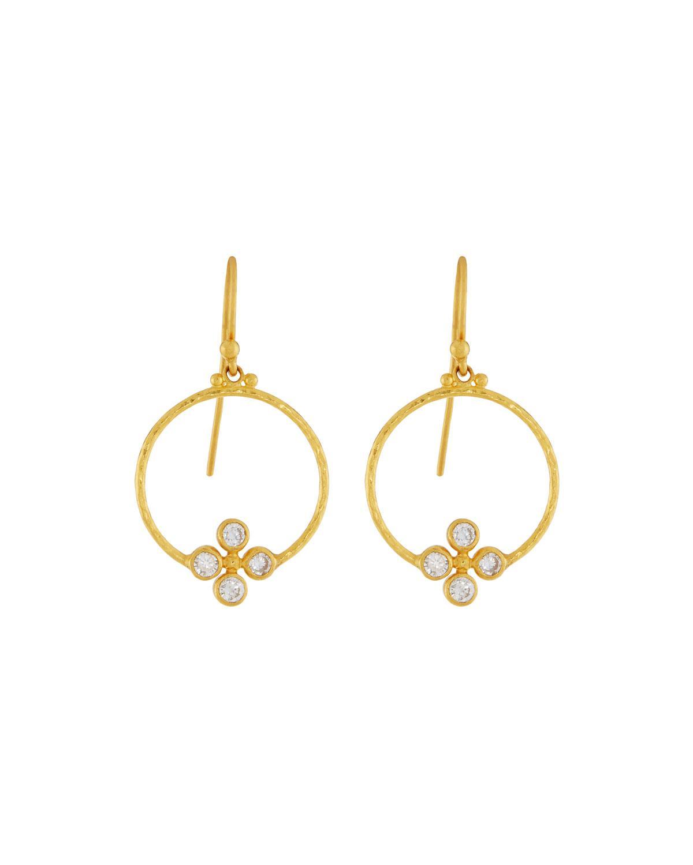 Gurhan Clover 24k Circular Diamond Drop Earrings tEf0D