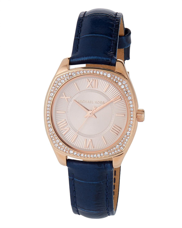 ede42fa8722e MICHAEL Michael Kors. Women s 32mm Bryn Mini Crystal Watch W  Leather ...