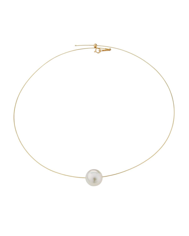 Belpearl 18k Single Tahitian Pearl Wire Necklace YgYRmP