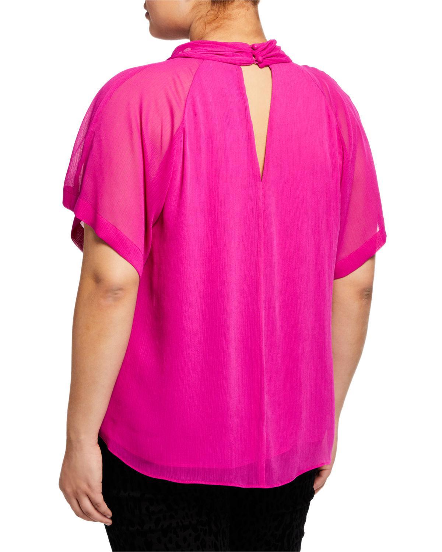 a176440fa6c25 Lyst - Rachel Rachel Roy Kimono Relax-fit Flutter-sleeve Top in Black