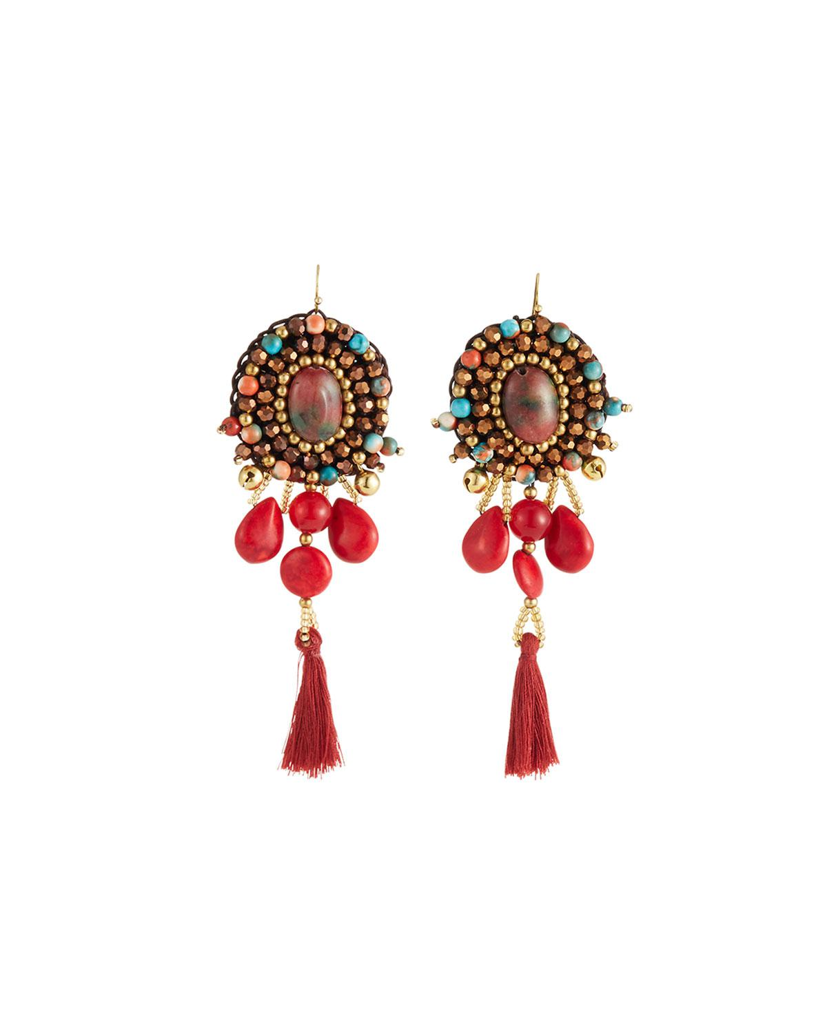Nakamol Multi-Tassel Fringe Drop Earrings is31L5T3Z