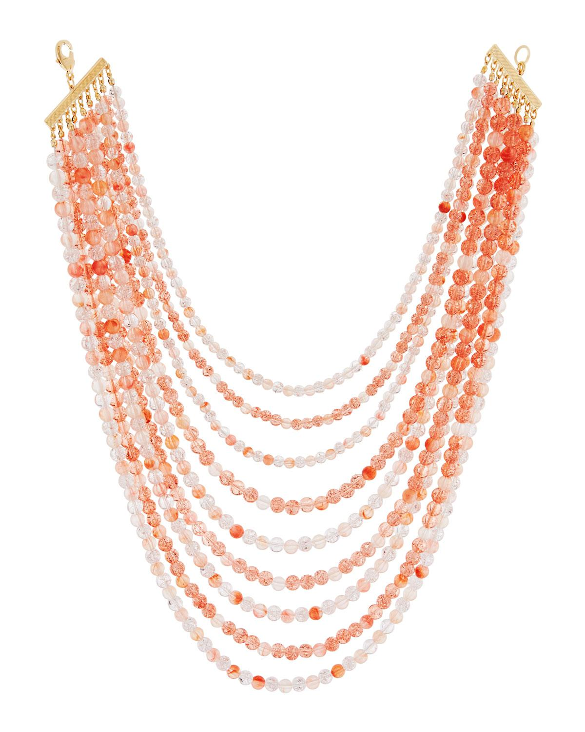 Lydell Nyc Short Multi-Row Semiprecious Beaded Necklace vH7PT5VZw