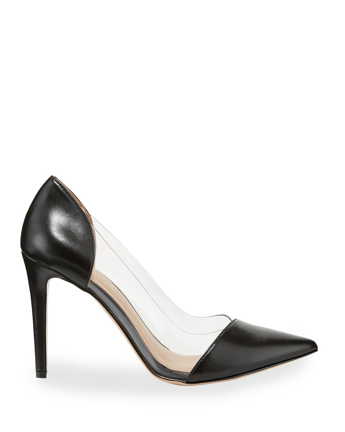 c5d5d264a0f Lyst - BCBGeneration Lana Clear-sided Pointed-toe Pumps in Black