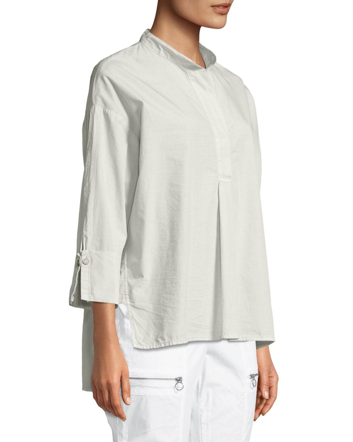 In China Cheap Online Outlet Limited Edition Moa High-Low Cotton/Silk Poplin Blouse Xcvi Cheap 100% Authentic bH6JdSLd