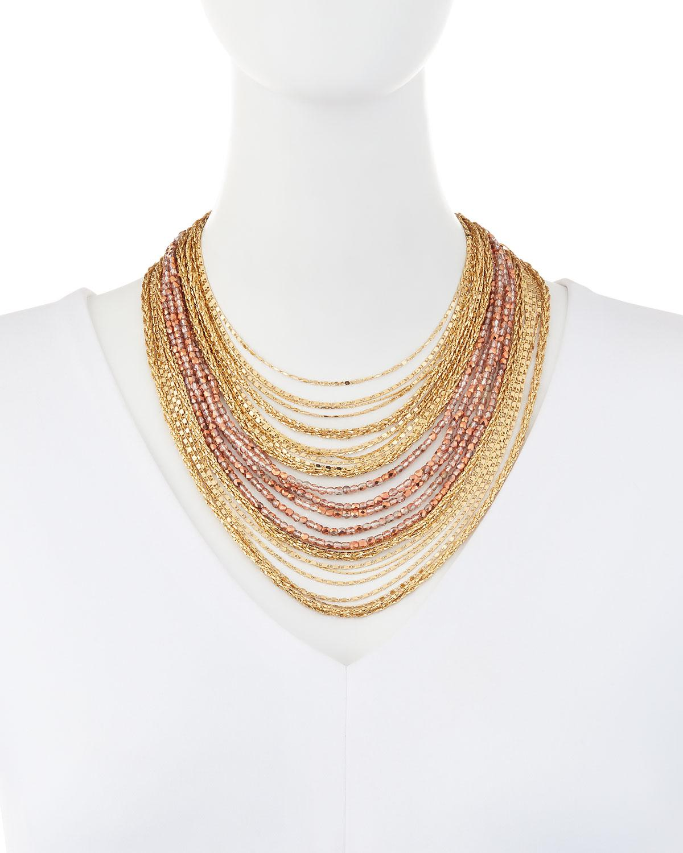Lydell Nyc Multi-Strand Layered Choker Necklace RPfxBlK