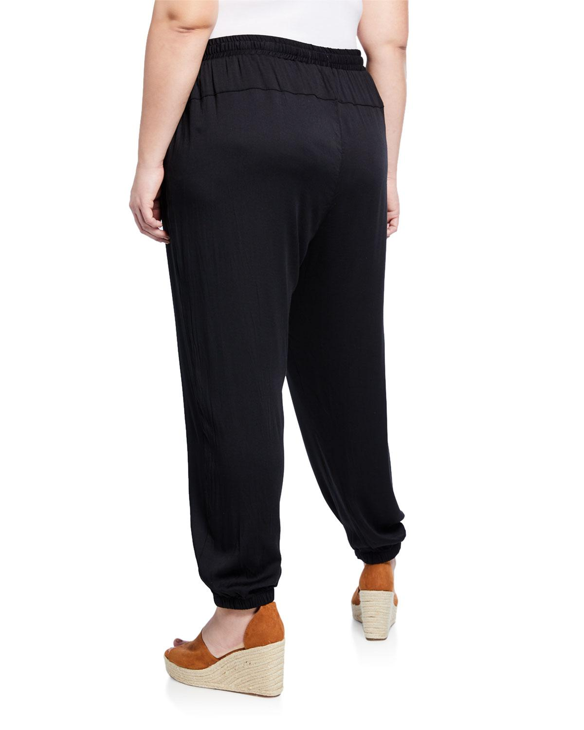 3ede530e032 Lyst - Johnny Was Ramble Drawstring Cargo Pants Plus Size in Black