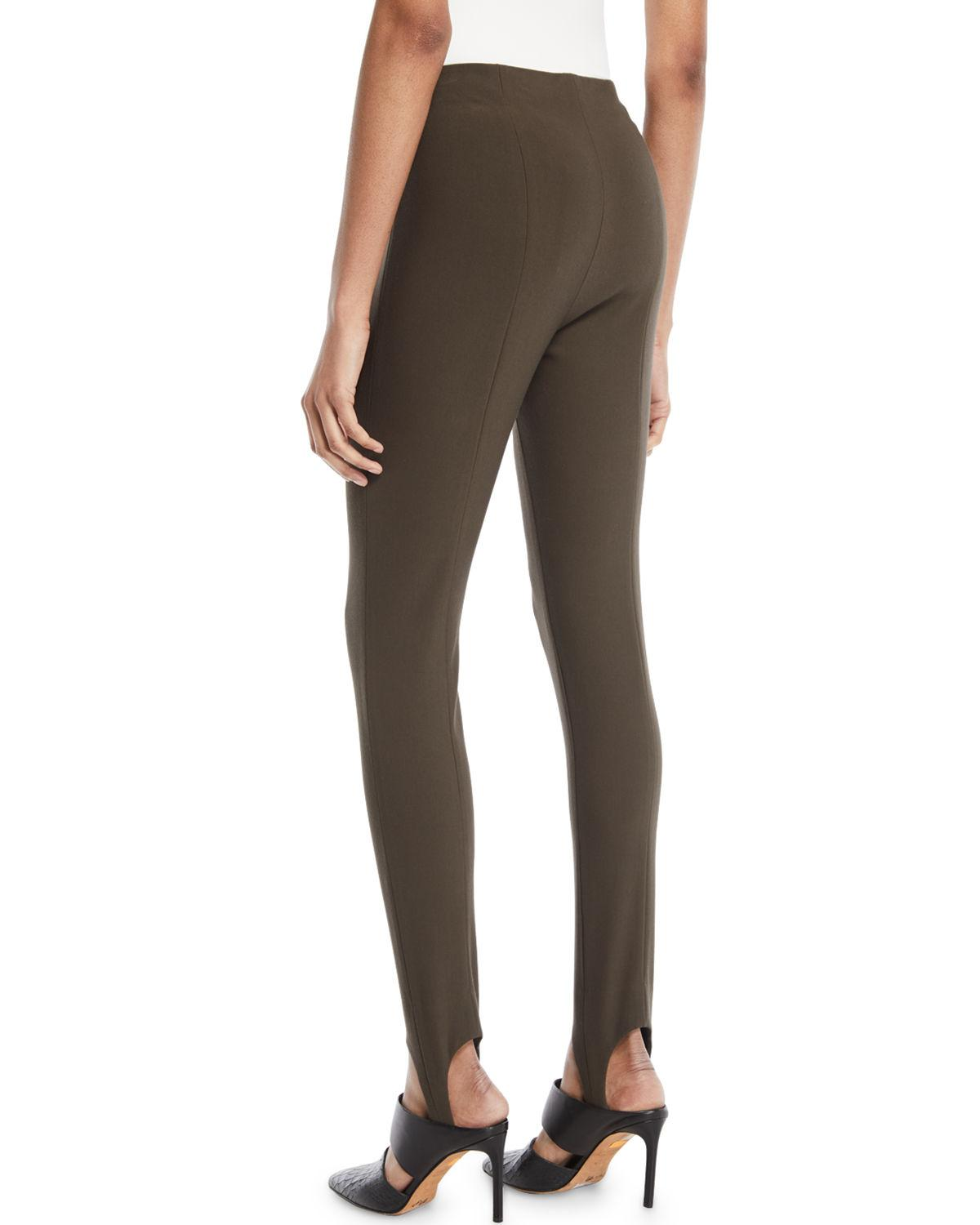 f0a09a9e10b83 Lyst - Vince Skinny Stirrup Pants in Brown