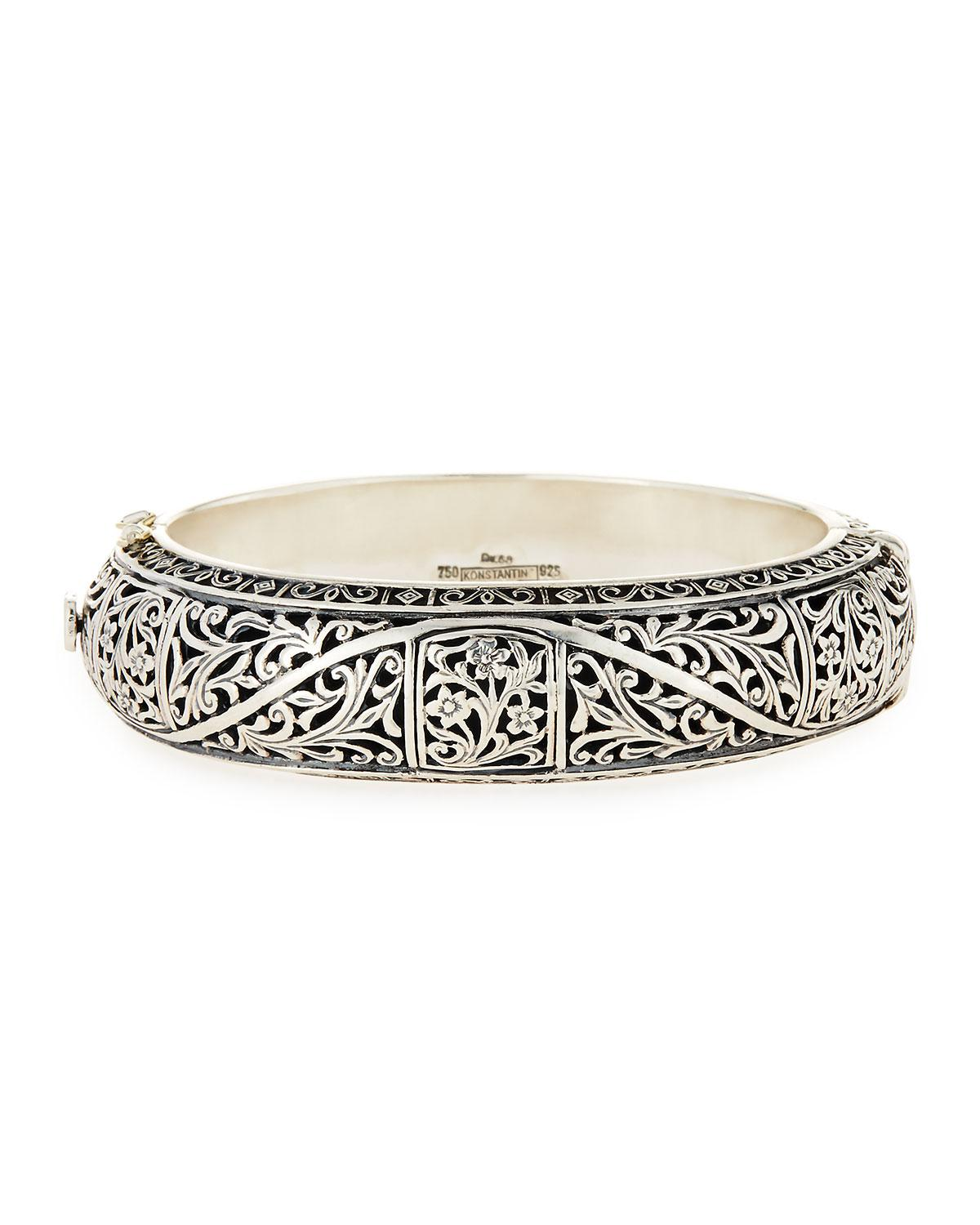 orpheus brand find bracelets sterling silver at men watches jewelry s hinged from slim online konstantino products bracelet and