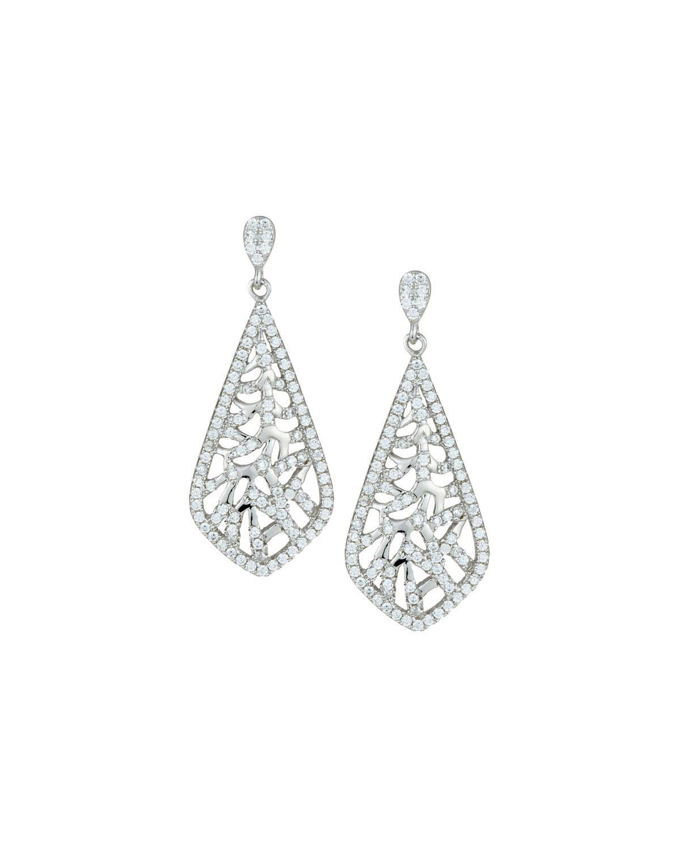 Fantasia Octagonal Pave Crystal Stud Earrings 0d69WdT