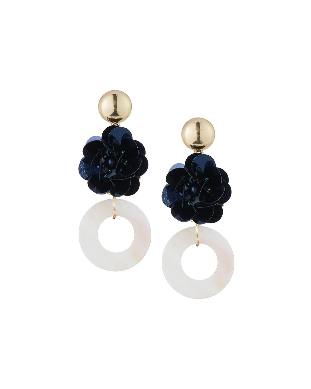 Romeo & Juliet Couture Flower & Donut Drop Earrings GzlQMD