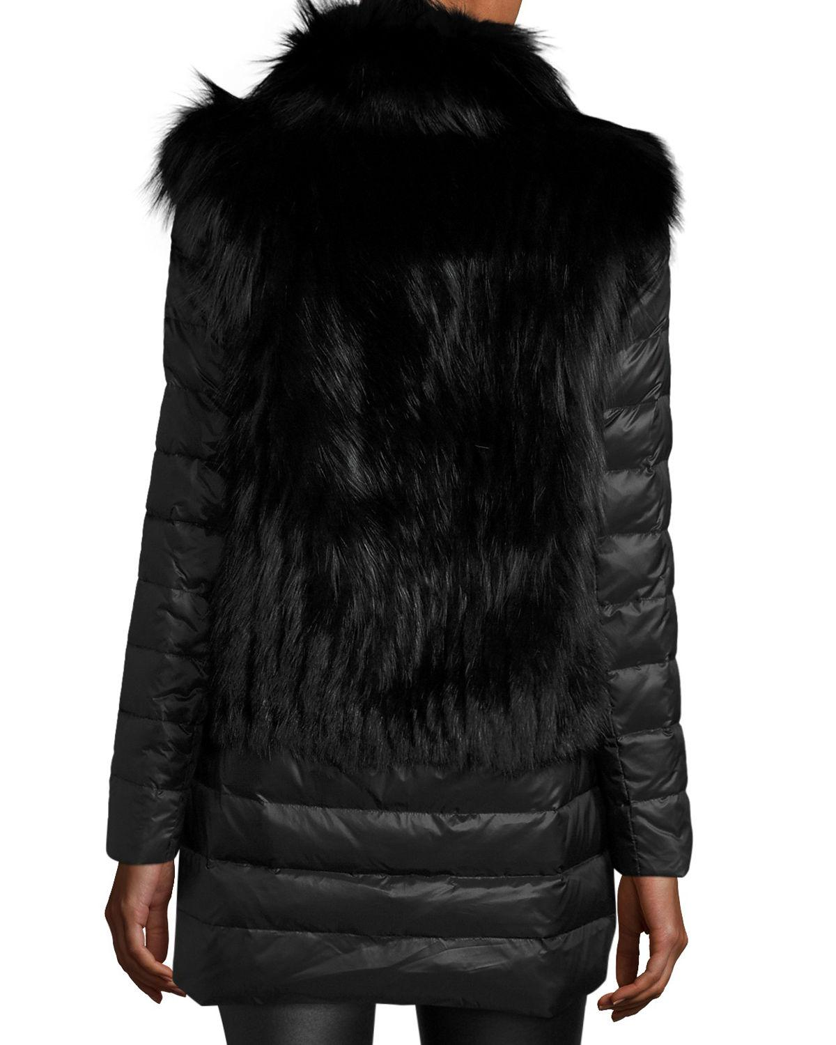 09f49bf03d2 Lyst - Gorski Fox Fur Stroller W/ Removable Down Skirt And Sleeves in Black  - Save 70%