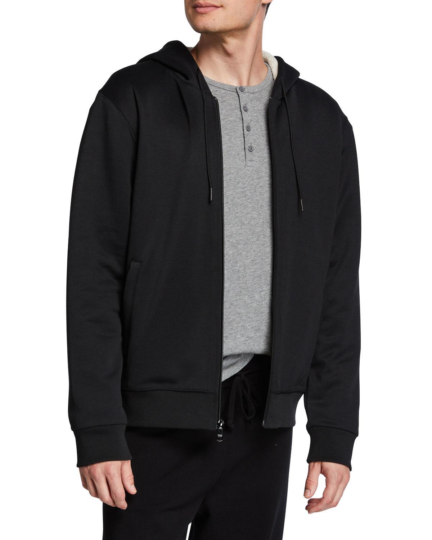 Vince Cotton Men's Faux Sherpa Lined Hooded Jacket in ...