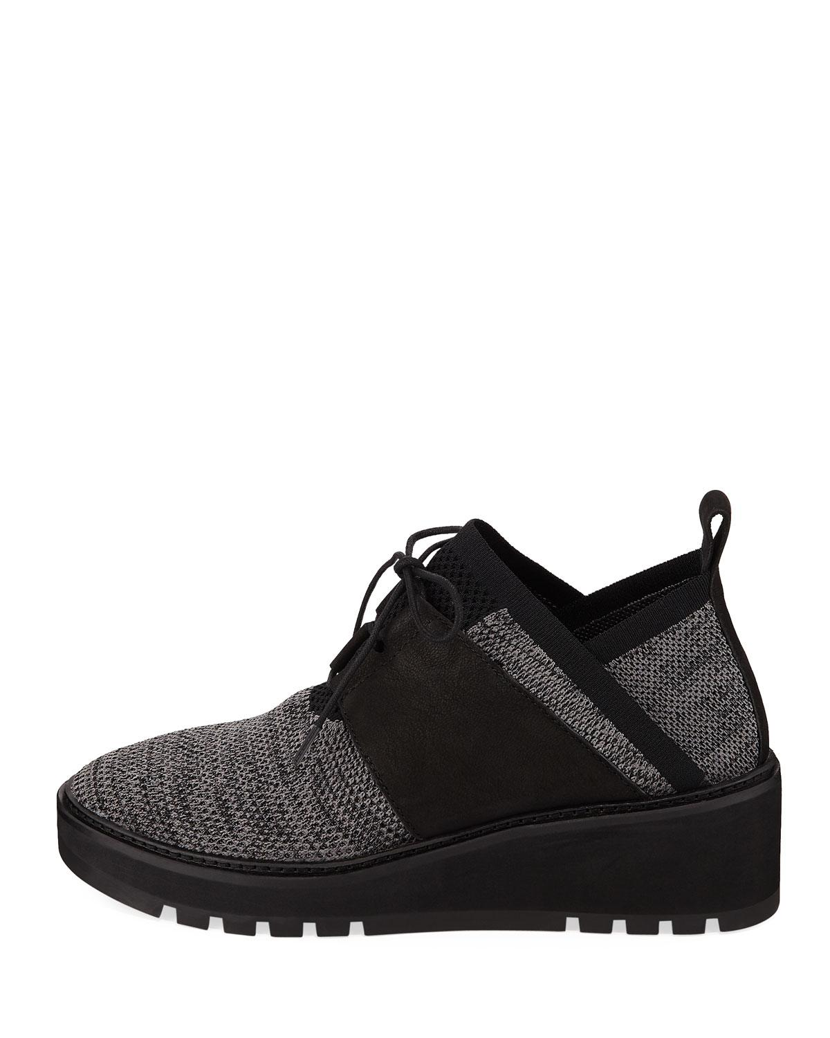 ad92b1b6fa29 Lyst - Eileen Fisher Wilson Lace-up Knit Wedge Walking Shoes in Black for  Men