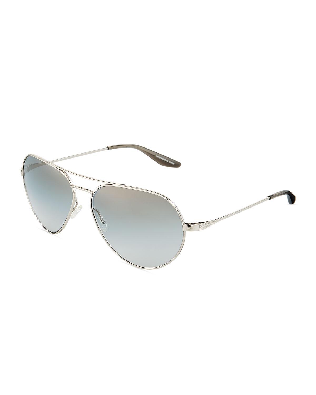 2167d92f6c73 Lyst - Barton Perreira Commodore Metal Aviator Sunglasses in Metallic