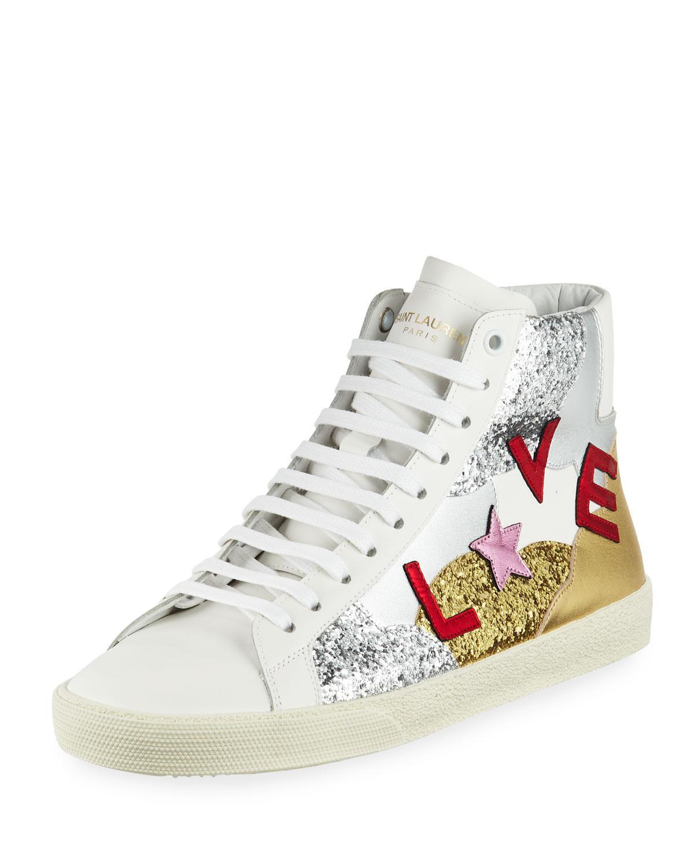 Dolce & Gabbana Love Glitter Embellished Sneakers e1Iq6vry