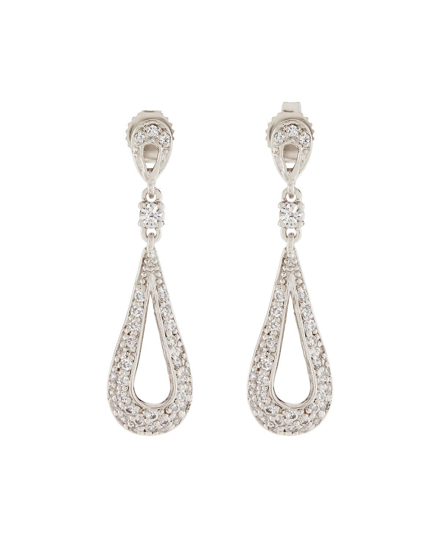 Fantasia Open CZ Crystal Teardrop Earrings SaDQT6WpZ