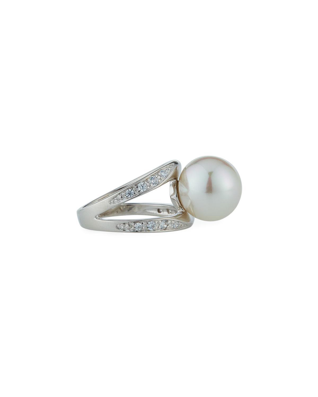 Majorica 12mm Pearl & Cubic Zirconia Pavé Ring ywAMjlVDE