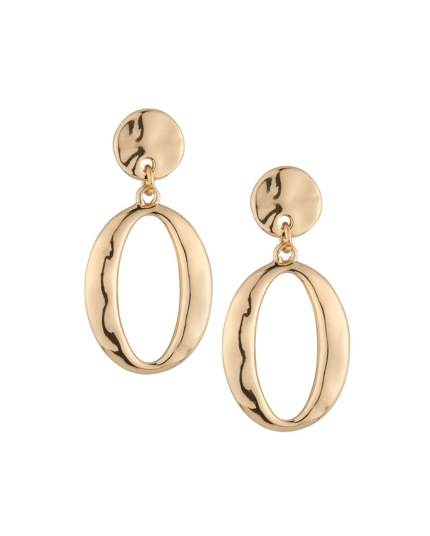 Lydell Nyc Women S Metallic Golden Hoop Drop Earrings