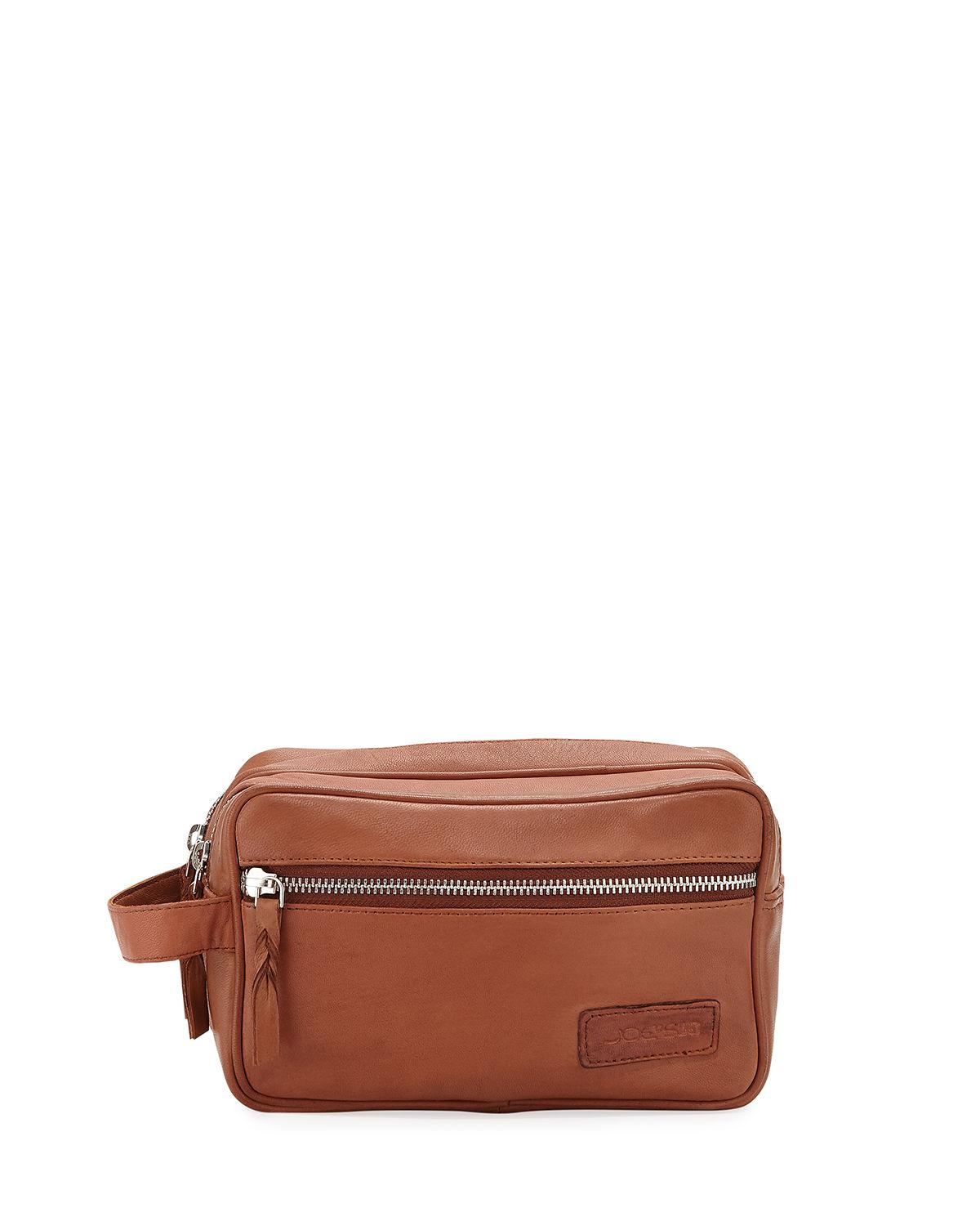 22cb90ab7709 Lyst - Joe s Men s Leather Zip-top Toiletry Case Kit in Brown for Men