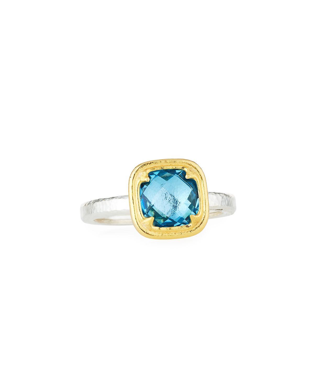 Gurhan Skittle Ring in Blue Topaz, Size 6