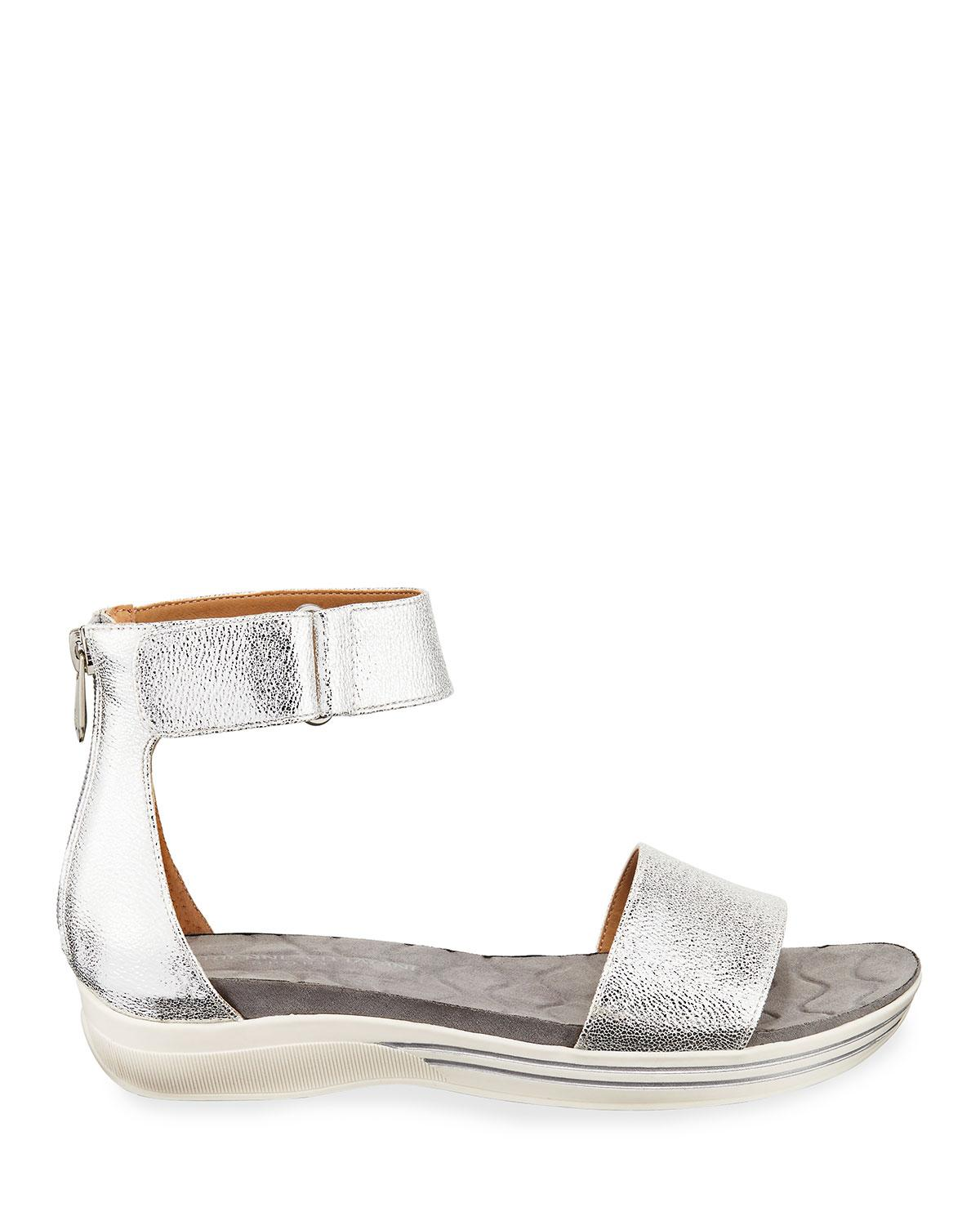 3bef84c36f5d Lyst - Adrienne Vittadini Carlos Metallic Ankle-strap Sandals in ...
