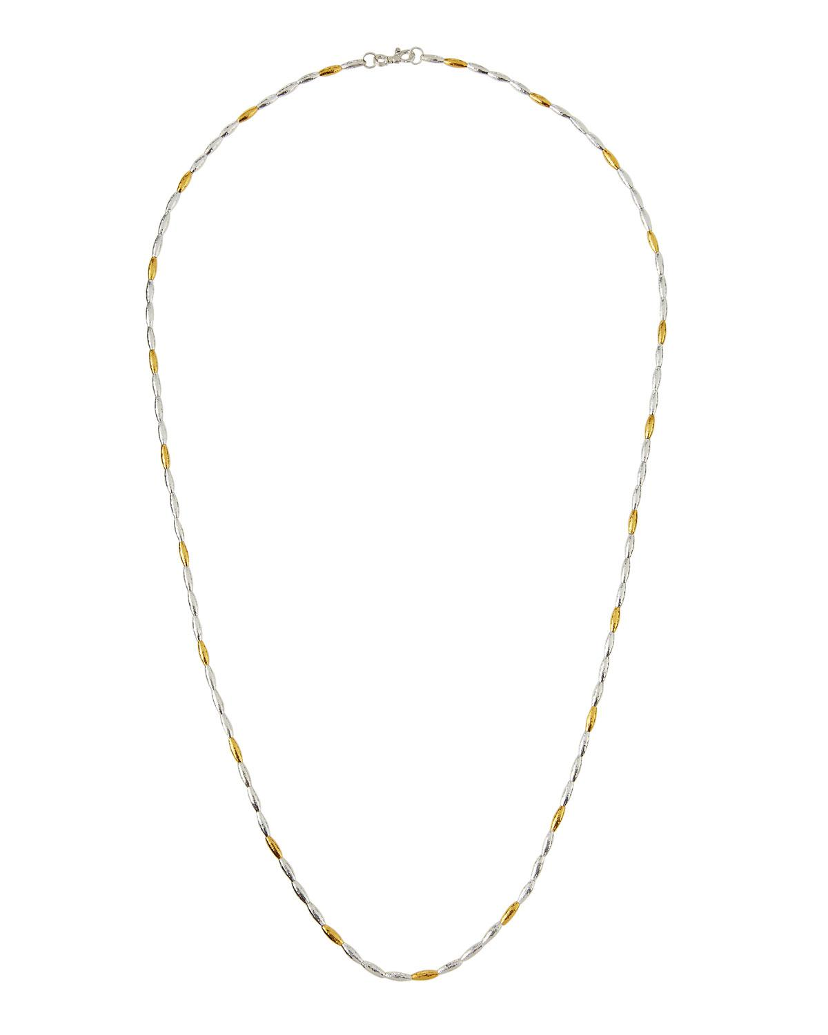 Gurhan Wheat Two-Tone Beaded Long Necklace, 36L