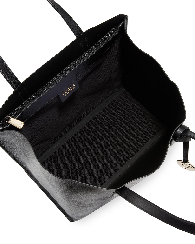 89ad3725b05 Lyst - Furla Sally Medium Saffiano Leather Tote Bag in Black