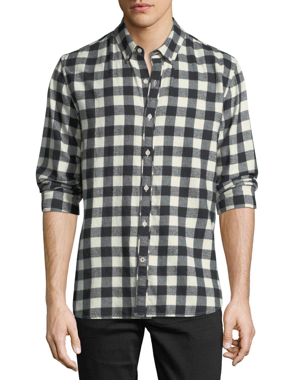 90e230753e58 Lyst - Joe's Jeans Men's Piper Check Woven Long-sleeve Shirt in ...