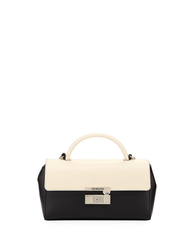 Love Moschino Two-Tone Faux Top Handle Bag UJHkggOw