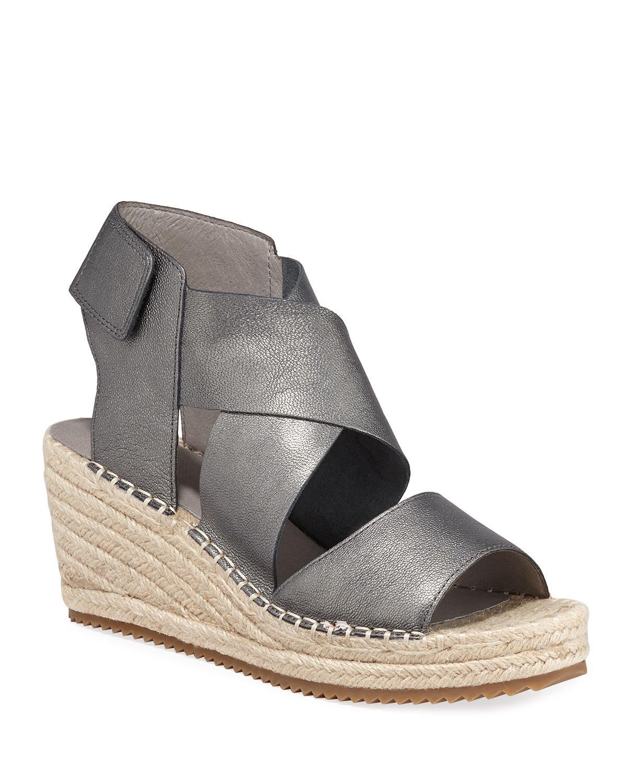 5dcad9d4026 Eileen Fisher. Women s Willow Metallic Leather Wedge Espadrilles