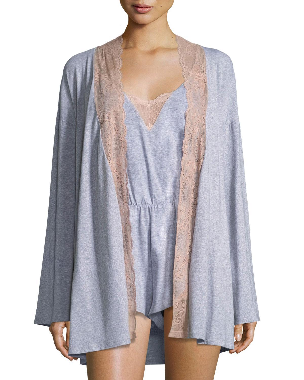 01b6b7632f Cosabella. Women s Palazzo Lace-trim Jersey Kimono