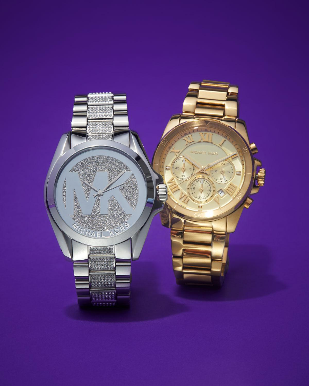 27e591bdd76c Lyst - MICHAEL Michael Kors 40mm Jet Set Chronograph Bracelet Watch Golden  in Metallic
