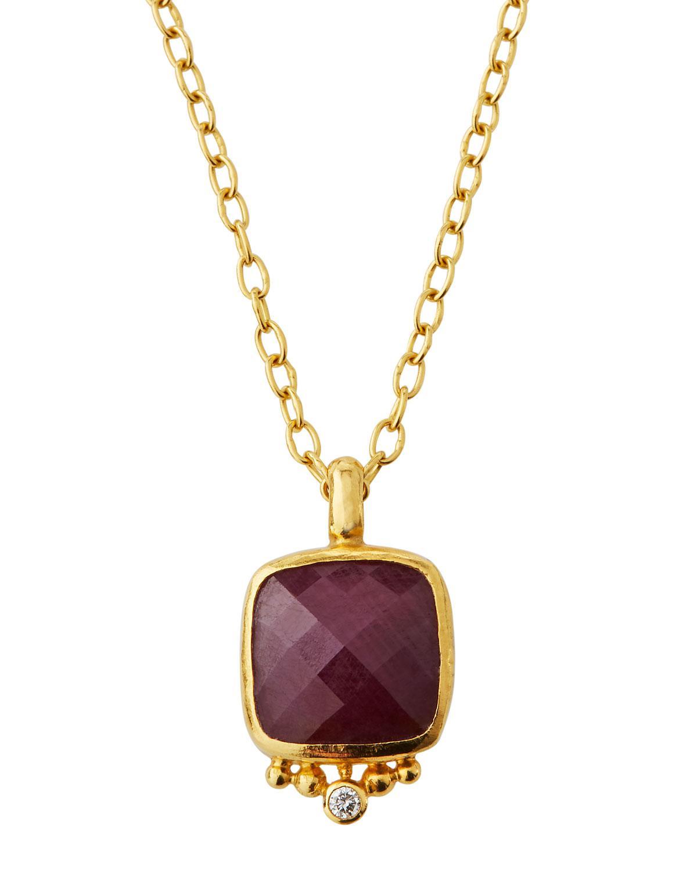 Gurhan Elements Hue Sapphire & Diamond Pear Necklace eOzbfC3aA
