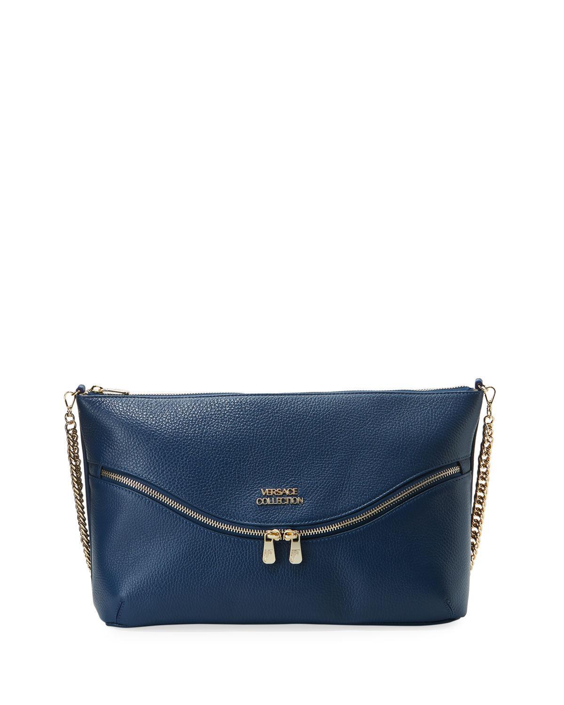 559d03e7a1 Versace Collection Vitello Leather Shoulder Bag