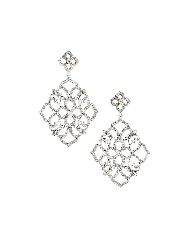 Penny Preville 18k White Gold Diamond Stiletto Drop Earrings Eklg1yRxd