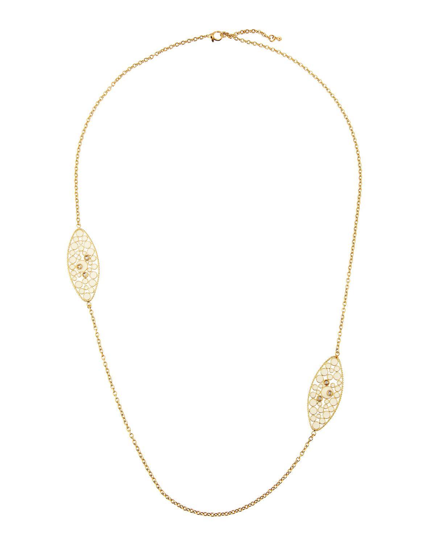 Roberto Coin 18k Yellow Gold Multi-Strand Amethyst & Citrine Necklace CrujiDplEN