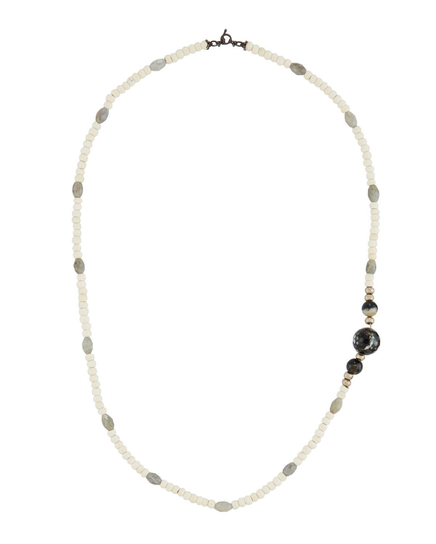 Armenta Long Labradorite & Chrysocolla Beaded Necklace lciVCGdv