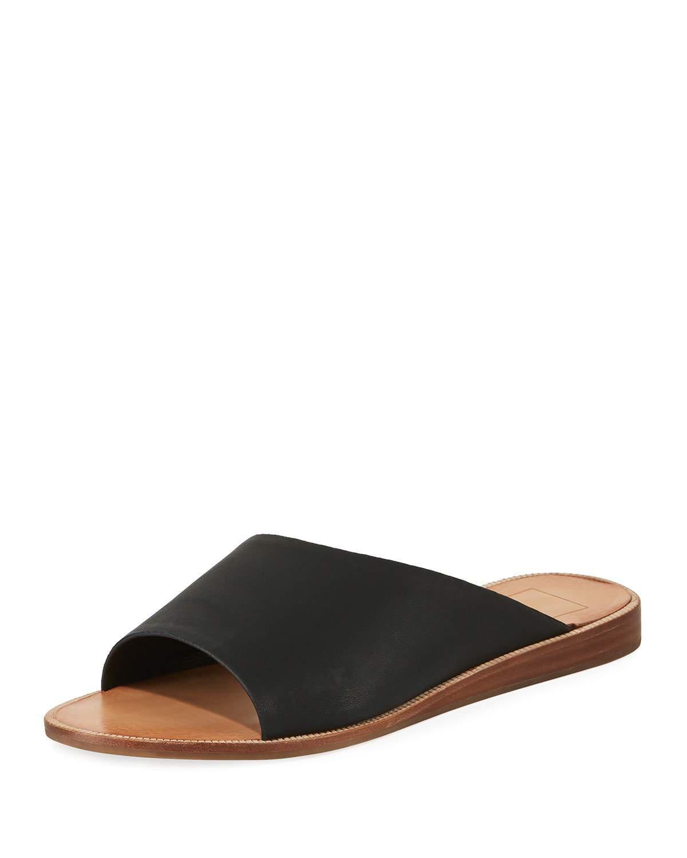 Dolce Vita. Women's Black Prima Asymmetric Flat Sandal