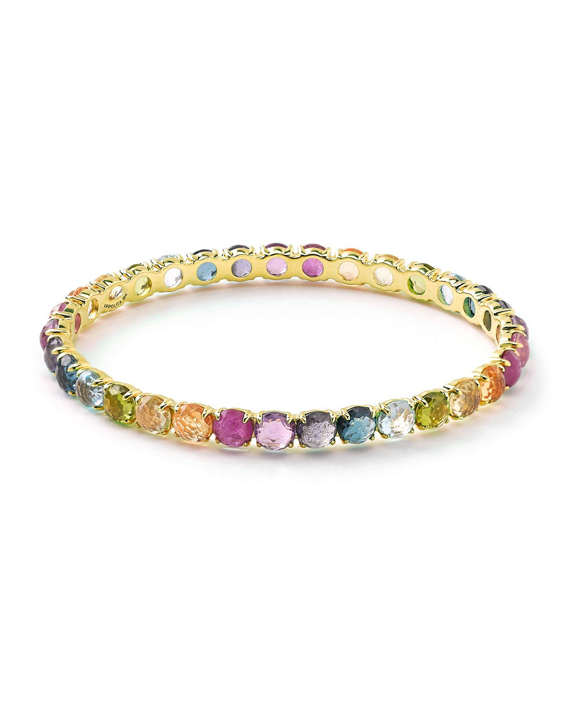 Ippolita 18k Gold Lollipop All-Around Bangle Bracelet in Peridot 1VoywB158c