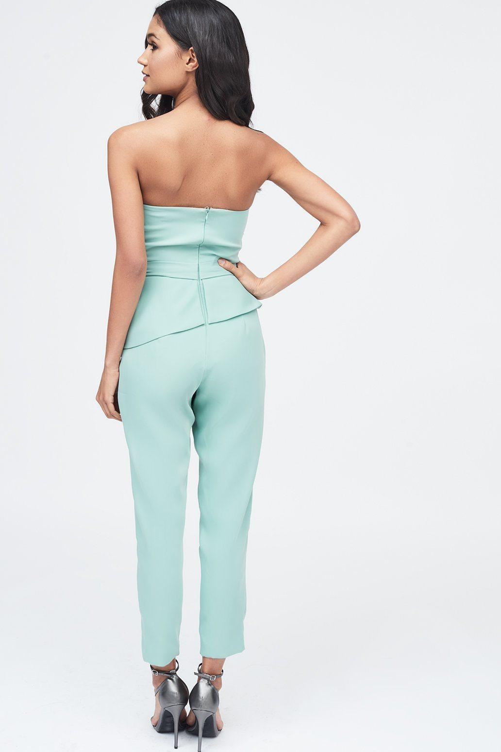 cc81613d0e Lyst - Lavish Alice Origami Folded Jumpsuit In Sage in Blue