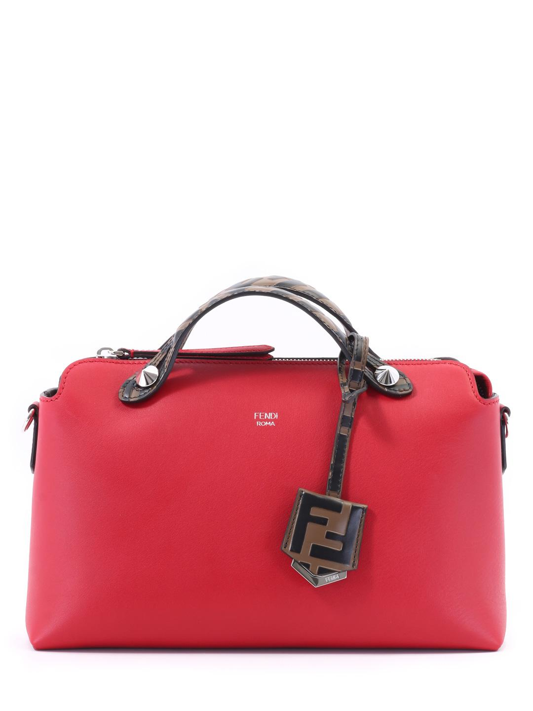 6be775855e Lyst - Fendi Bag By The Way Red in Red