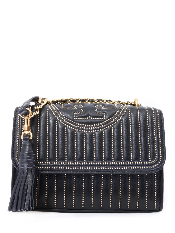 36fde02e88f Lyst - Tory Burch Black Small Fleming Bag in Black