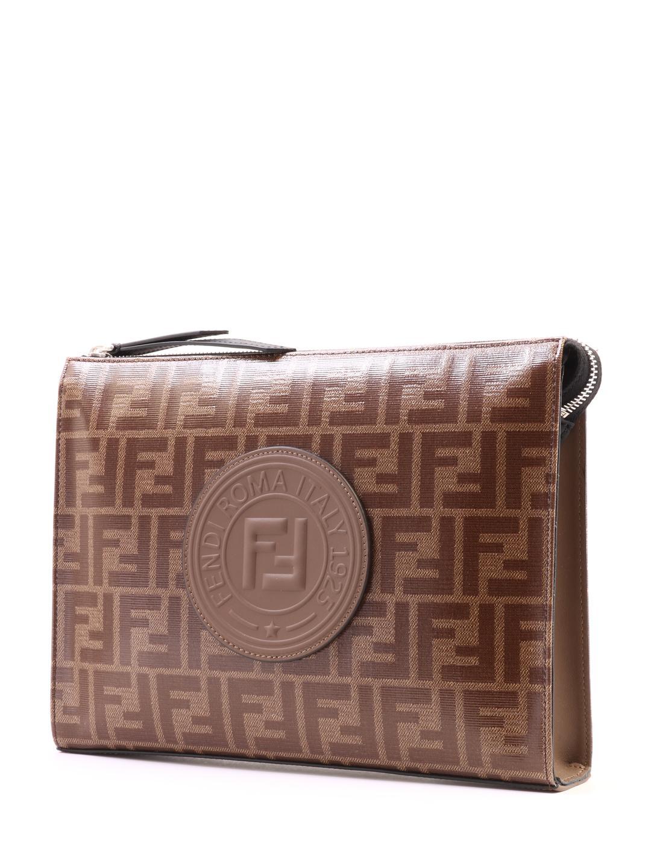 39fc8f6ef1fd Fendi - Natural Clutch Bag Ff Brown for Men - Lyst. View fullscreen