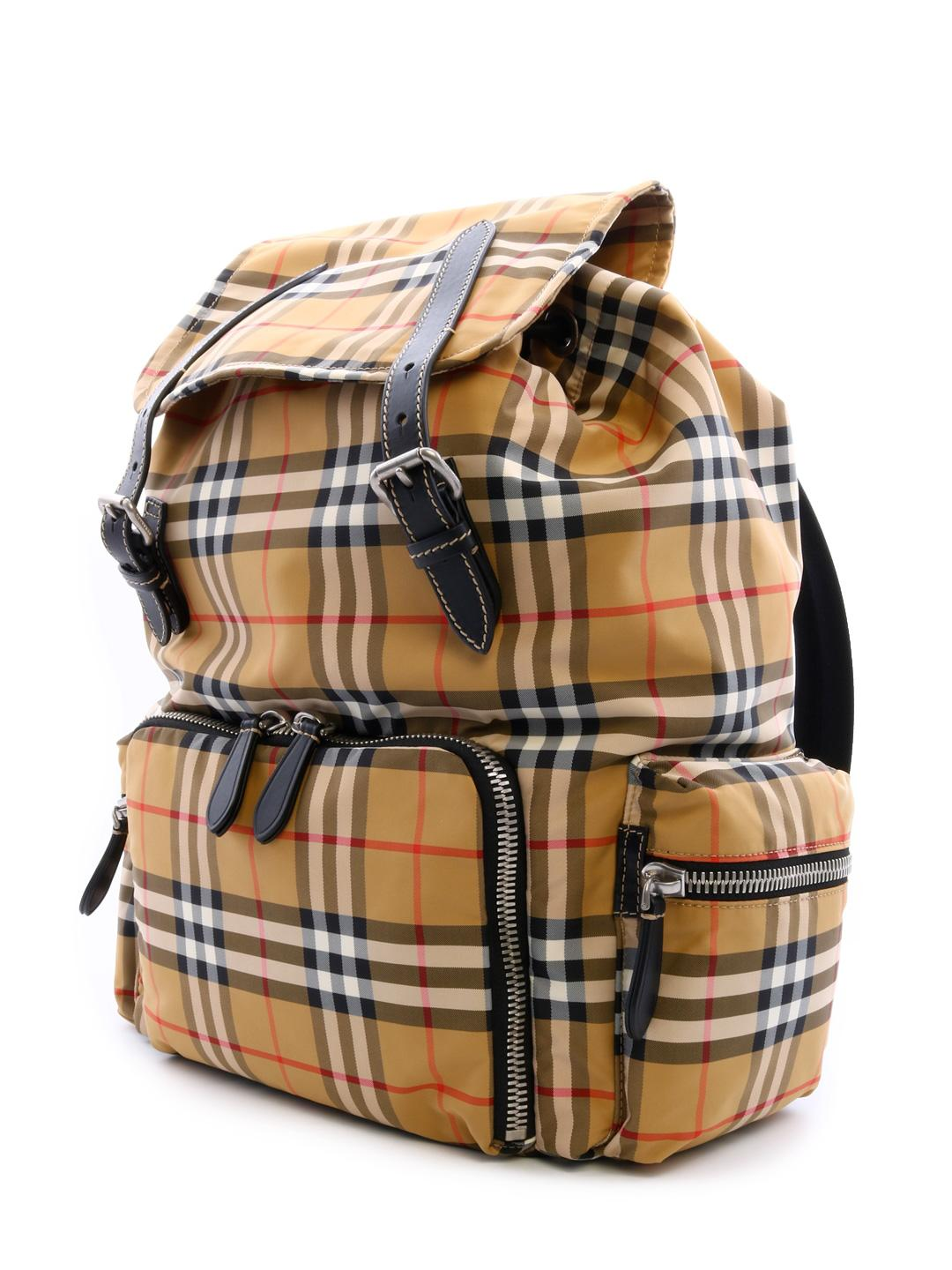 c6d5ba86f683 Lyst - Burberry The Large Vintage Check Rucksack in Natural for Men - Save  19%