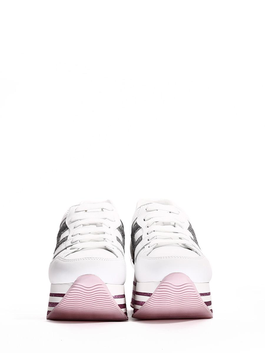 Hogan Leather Sneakers Maxi H222 Glitter in White - Lyst
