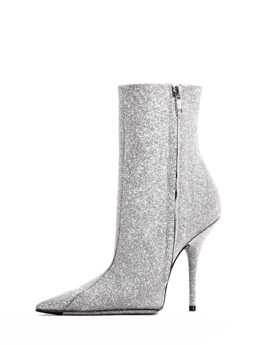 thigh high glitter balenciaga boots