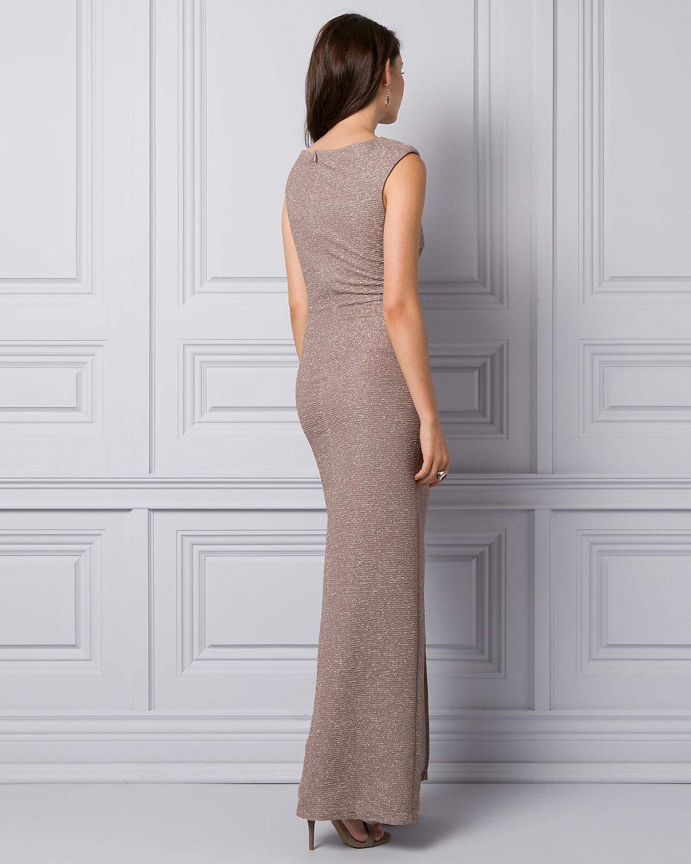 ... Knit V-neck Gown - Lyst. View fullscreen 79b08eaf0